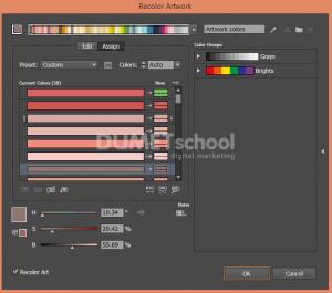 Cara Mengubah Warna Dengan Recolor Artwork