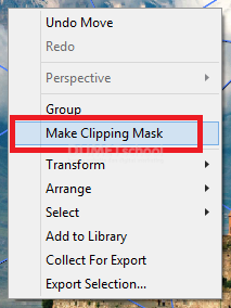 Cara Clipping Mask Pada Adobe Illustrator