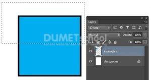 Memotong Custom Shape dalam Mode Shape di Photoshop