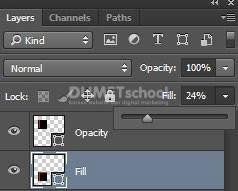 Perbedaan Fill dan Opacity pada layer di adobe photoshop