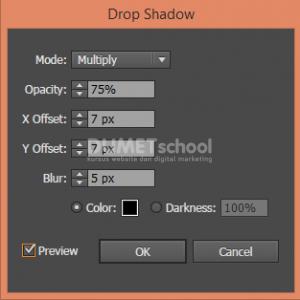 Cara Membuat Drop Shadow di Illustrator