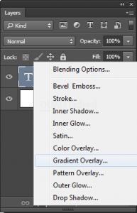 Memberikan Warna Gradient pada teks di adobe photoshop