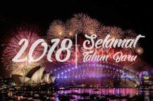 Membuat Wallpaper Selamat Tahun Baru 2018 di Photoshop