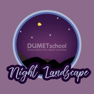 Cara Membuat Night Landscape di Illustrator