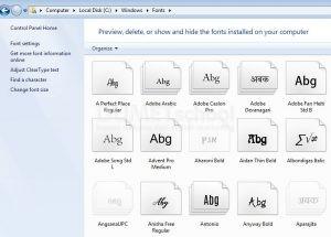 Cara Menghilangkan Jenis Font yang tidak disukai