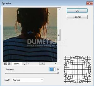 membuat efek fisheye pada foto di adobe photoshop