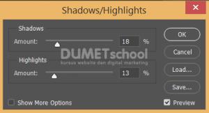 Cara Menggunakan Shadows/Highlights Untuk Menambah Detail