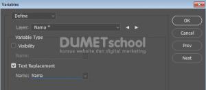 Memasukkan Data Excel ke Adobe Photoshop
