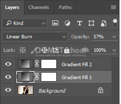 Menambahkan filter foto dengan Gradient di Adobe Photoshop