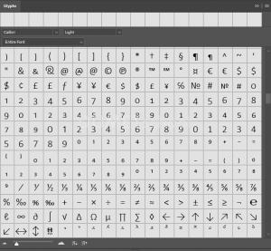 Cara Menampilkan Glyphs di Photoshop