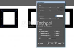 Copy Objek dengan Transfrom Effect di Adobe Illustrator