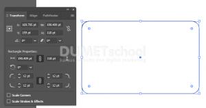 Mengatur Rounded agar tidak berubah saat di perkecil di Adobe Illustrator