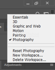 Pengaturan Workspace ini loh yang Bikin Hilang Beberapa Tools di Adobe Photoshop