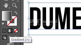 Memberi Warna Gradient pada Font di Adobe Illustrator