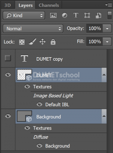 Cara Membuat Action Text 3D di Photoshop