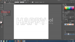 Membuat Depth Efek Text di Illustrator