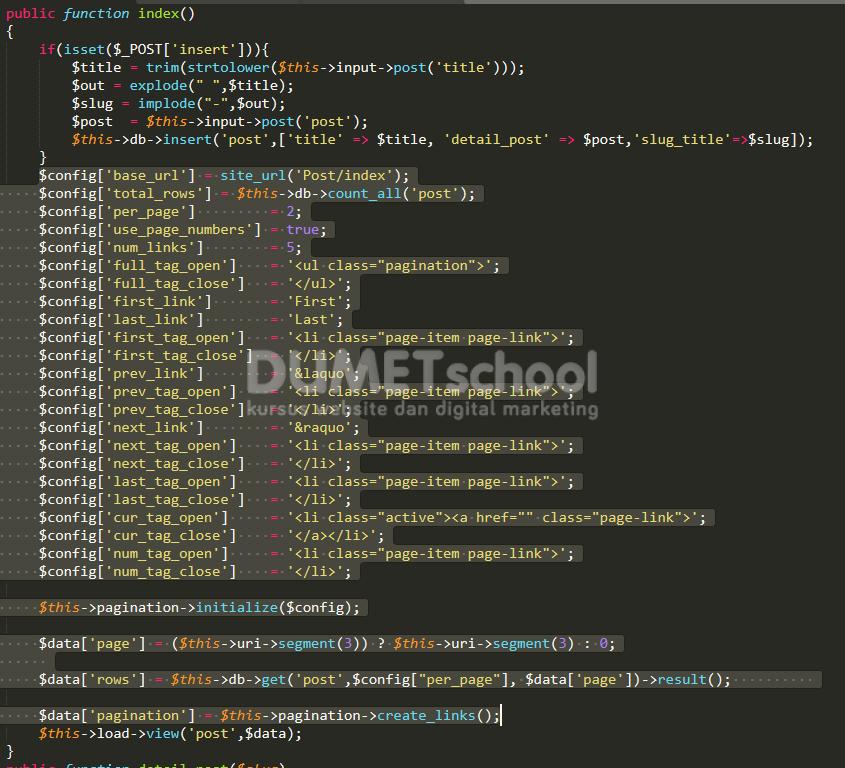 Membuat Pagination Dengan Bootstrap Dan Codeigniter