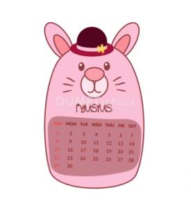 Membuat Kalender Hewan di Adobe Illustrator