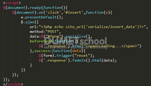 Crud Dengan Serialize jQuery dan Codeigniter
