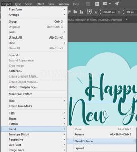 Membuat Poster Happy New Year di Illustrator