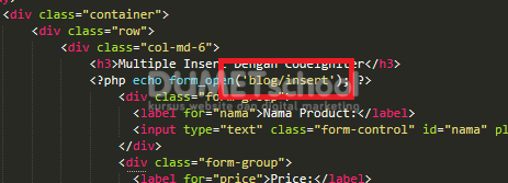 Multiple Insert Dengan Codeigniter