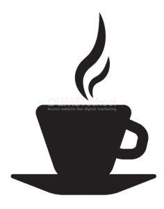 cara membuat gambar vektor gelas kopi di adobe illustrator yuk kursus website digital marketing desain grafis kursus digital marketing
