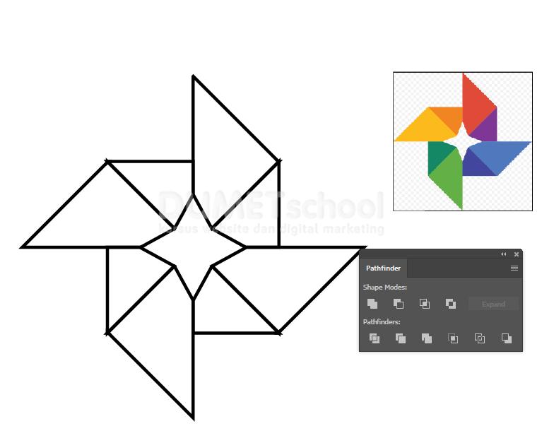 Membuat-Logo-Google-Foto-di-Adobe-Illustrator