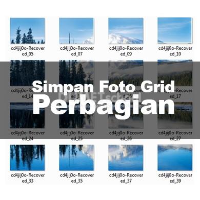 v Simpan Foto Grid Perbagian di Adobe Photoshop