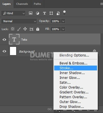Membuat Teks berwarna Teksture di Adobe Photoshop