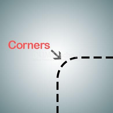 Mengatur Corners pada Shape Kota pada Adobe Illustrator