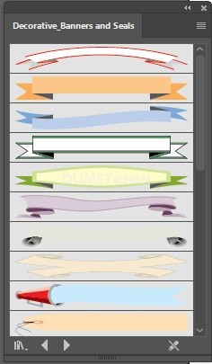 Menggunakan-Decorative-Banners-and-Seals-pada-Adobe-Illustrator