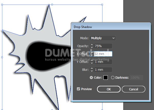 v Membuat Efek Lubang Kertas pada Adobe Illustrator