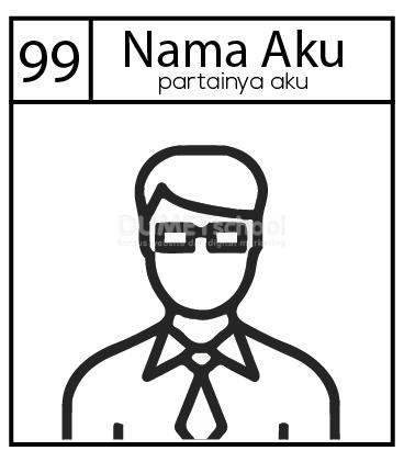 Membuat Gambar Kertas Pemilihan Pemilu di Adobe Illustrator
