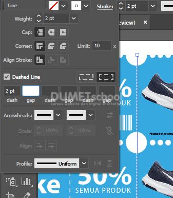 Tips dan Trik Cara Print Kupon di kertas A3 pada Adobe Illustrator