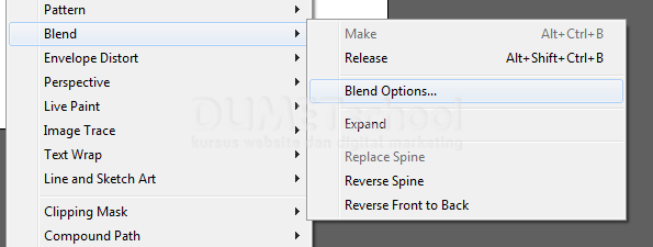 Mengatur Blend Option di Adobe Illustrator