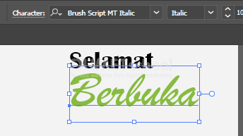 Membuat Ucapan Selamat Berbuka Puasa Di Adobe Illustrator