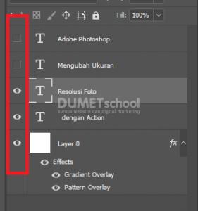 Cara Hide Layer di Adobe Photoshop