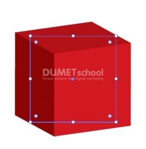 Membuat bentuk Kotak 3D di Adobe Illustrator