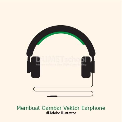 Membuat gambar vektor Earphone di Adobe Illustrator