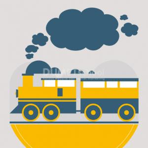 Membuat Poster Hari Kereta Api