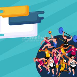 Membuat Poster Hari Olahraga Nasional