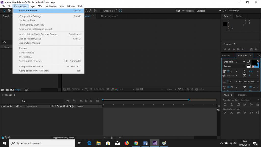 Cara Memberi Efek Flip Pada Teks Dengan Menggunakan Adobe After Effect