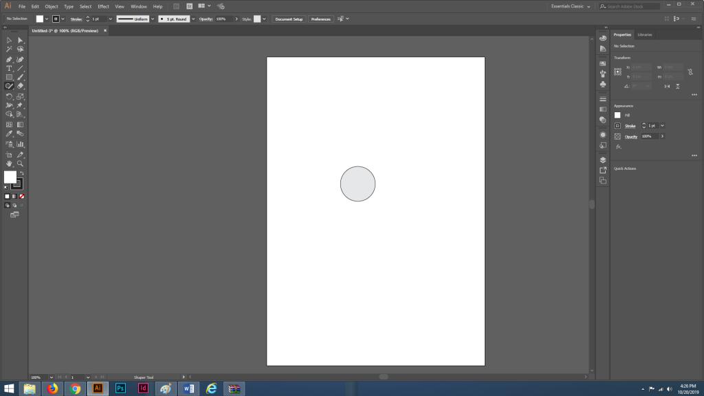 Cara Menggunakan Shaper Tool di Adobe Illustrator
