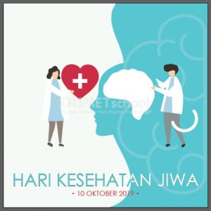 Membuat Poster Hari Kesehatan Jiwa