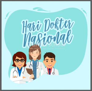 Membuat Poster Hari Doktor di Illustrator