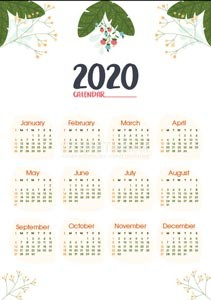 Membuat Kalender 2020 di Adobe Illustrator Part 2