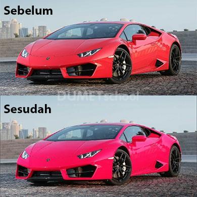 Mengganti Warna Merah Lamborghini menjadi Warna Pink di Adobe Photoshop