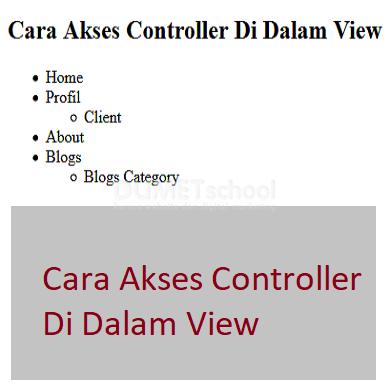 Cara Akses Controller Di Dalam View