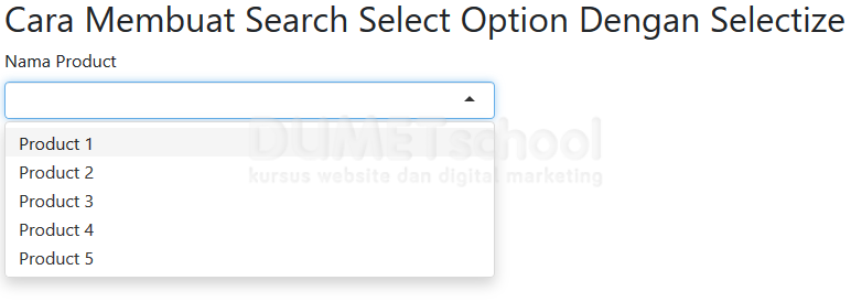 Cara Membuat Search Select Option Dengan Selectize