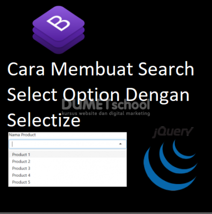 Cara Membuat Search Select Option Dengan Selectize